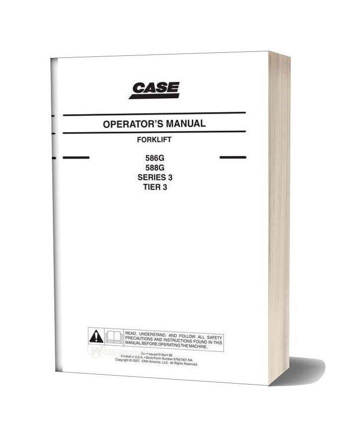Case Forklift G Series 3 Forklift Operators Manual