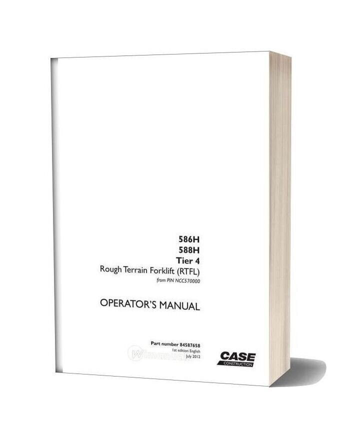 Case Forklift H Series Operators Manual