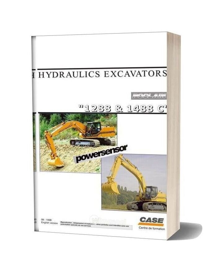 Case Hydraulic Excavators Poclan 1288 1488c Shop Manual