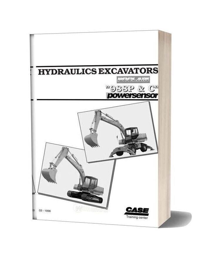 Case Hydraulic Excavators Poclan 988p C Shop Manual