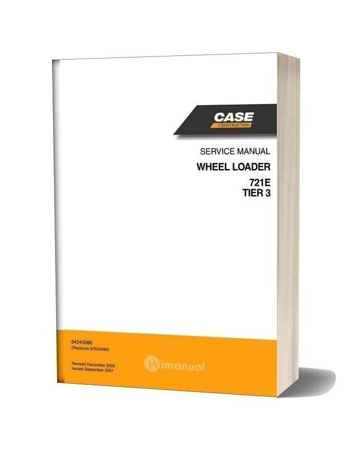 Case Wheel Loaders 721e Service Manual