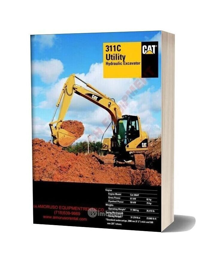 Cat 311 Cu Technical Specifications