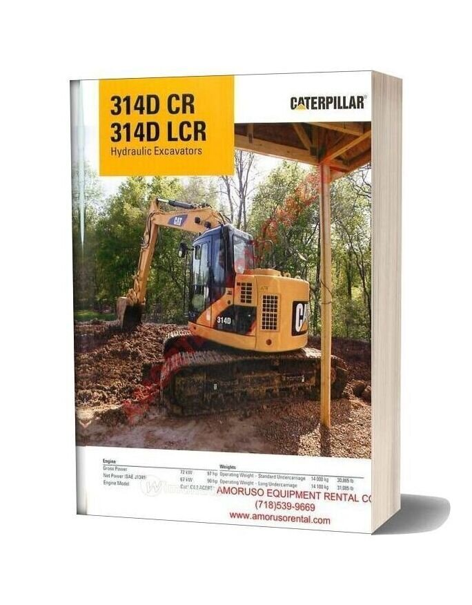 Cat 314 Dcr 314d Lcr Technical Specifications