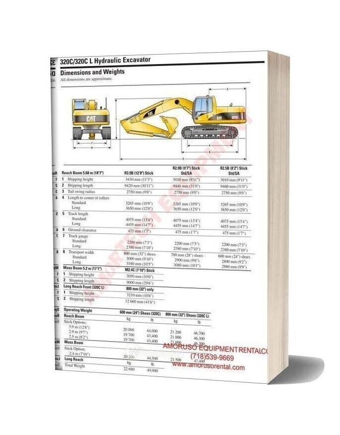 Cat 320 Cl Slr Technical Specifications