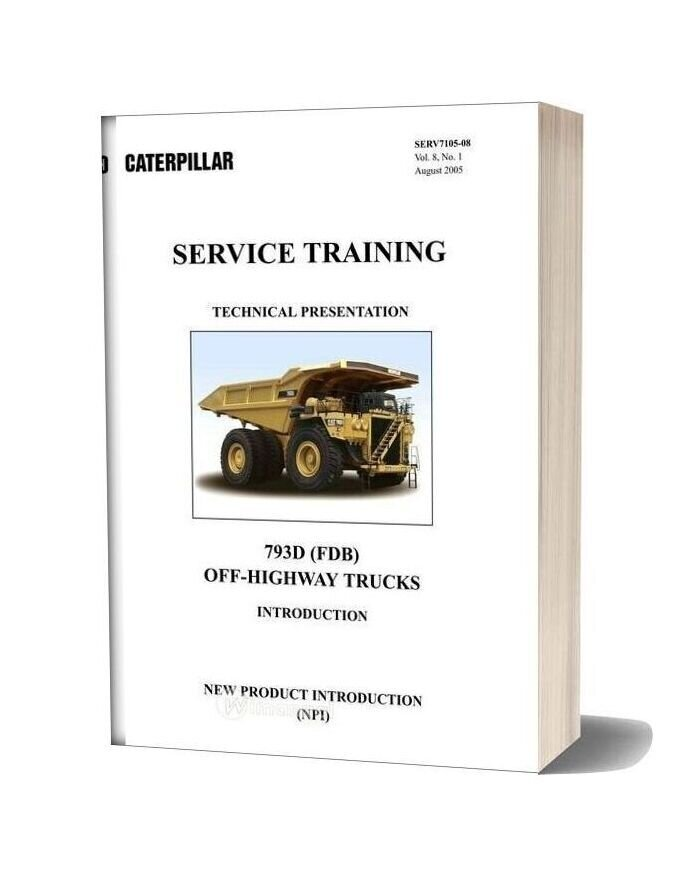 Cat 793d Off Highway Trucks Training Machine System