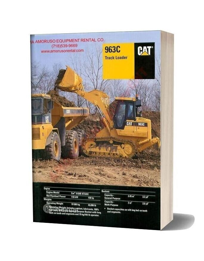 Cat 963 Technical Specifications
