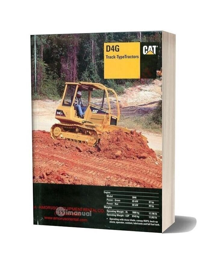 Cat D4g Technical Specifications