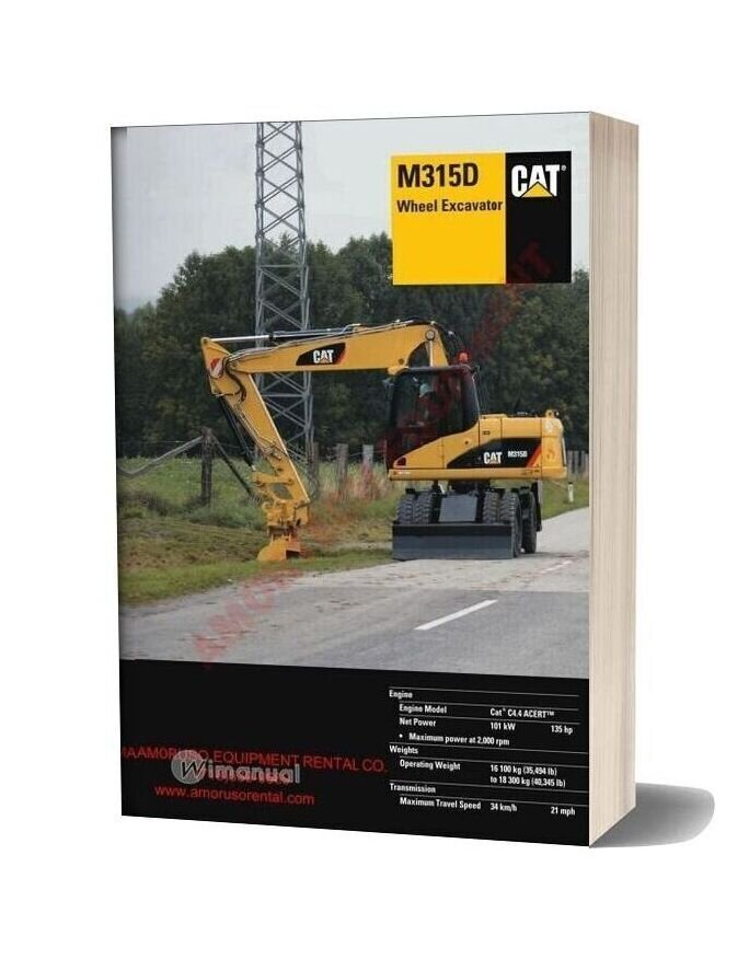 Cat M315 Technical Specifications
