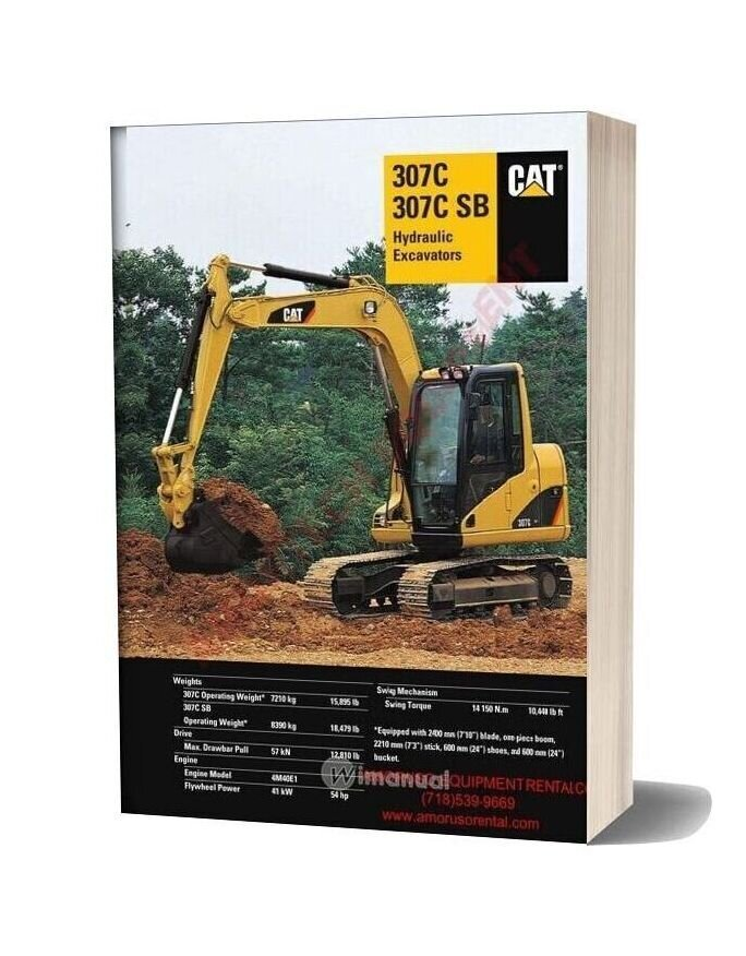 Caterpillar 307 Csb Technical Specifications