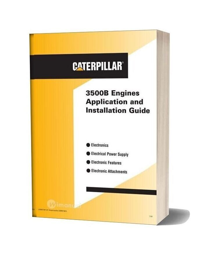Caterpillar 3500b Engines Application And Installation Guide
