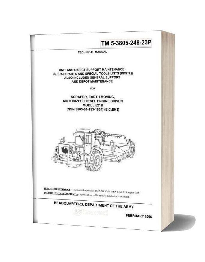 Caterpillar 621b Parts Book