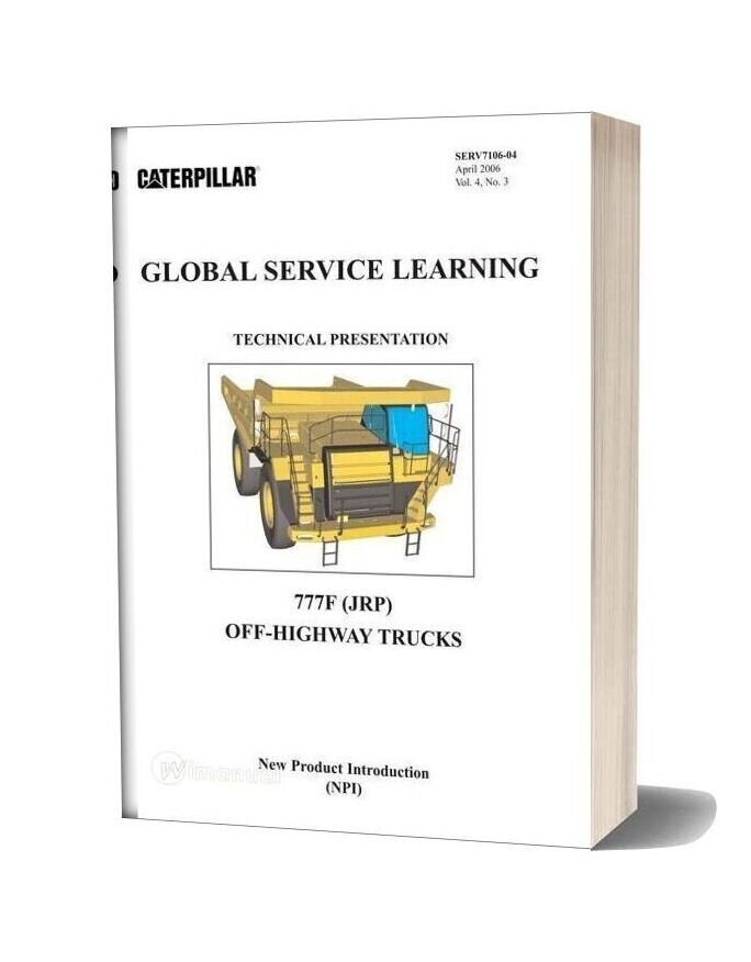 Caterpillar 777f Off Highway Trucks Global Service Learning