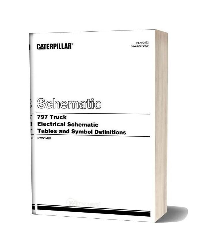 Caterpillar 797 Truck Electrical System Schematic Tables And Symbol Definitions
