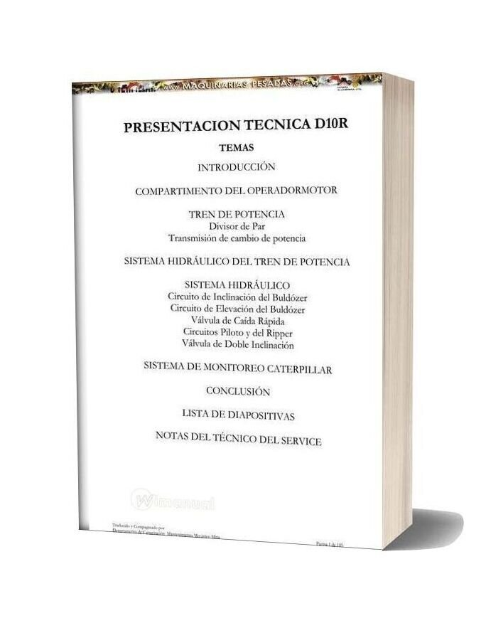 Caterpillar Bulldozer Tractor Chain D10r Technical Manual