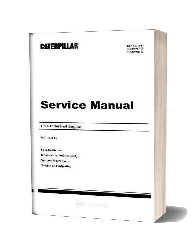Caterpillar C6 6 Industrial Engine Service Manual