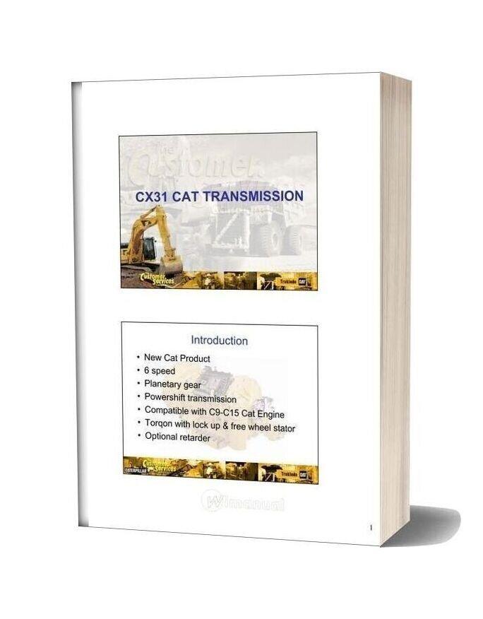 Caterpillar Cx31 Transmission Shop Manual