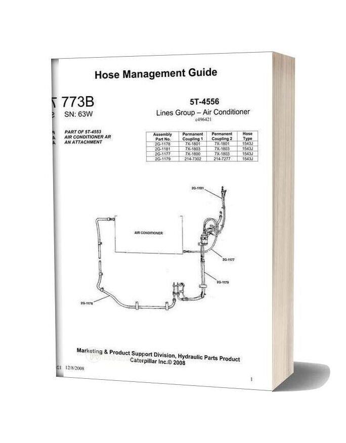 Caterpillar Hose Management Guide 773b