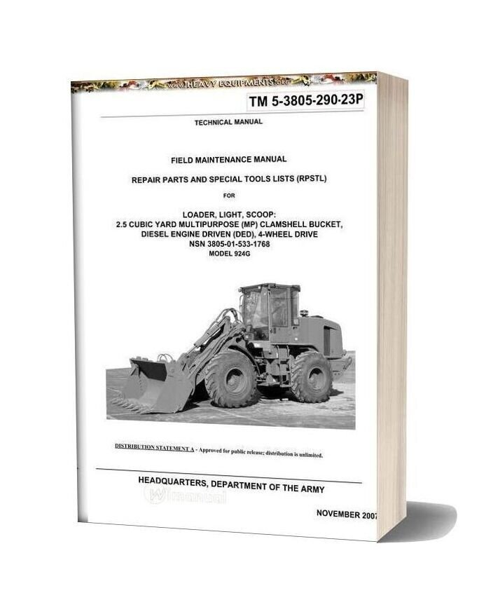 Caterpillar Maintenance Manual Front Loader 924g