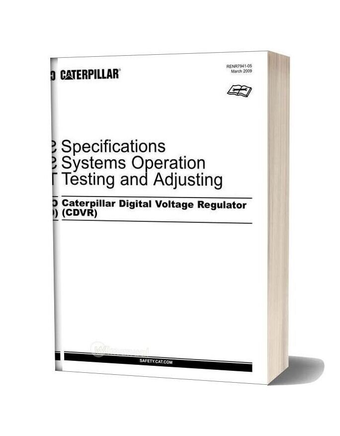 Caterpillar Systems Operation Testing And Adjusting Digital Voltage Regulator