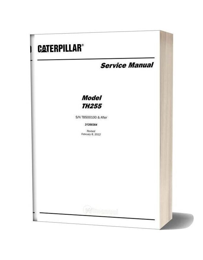 Caterpillar Th255 Telescpic Forklift Service Manual
