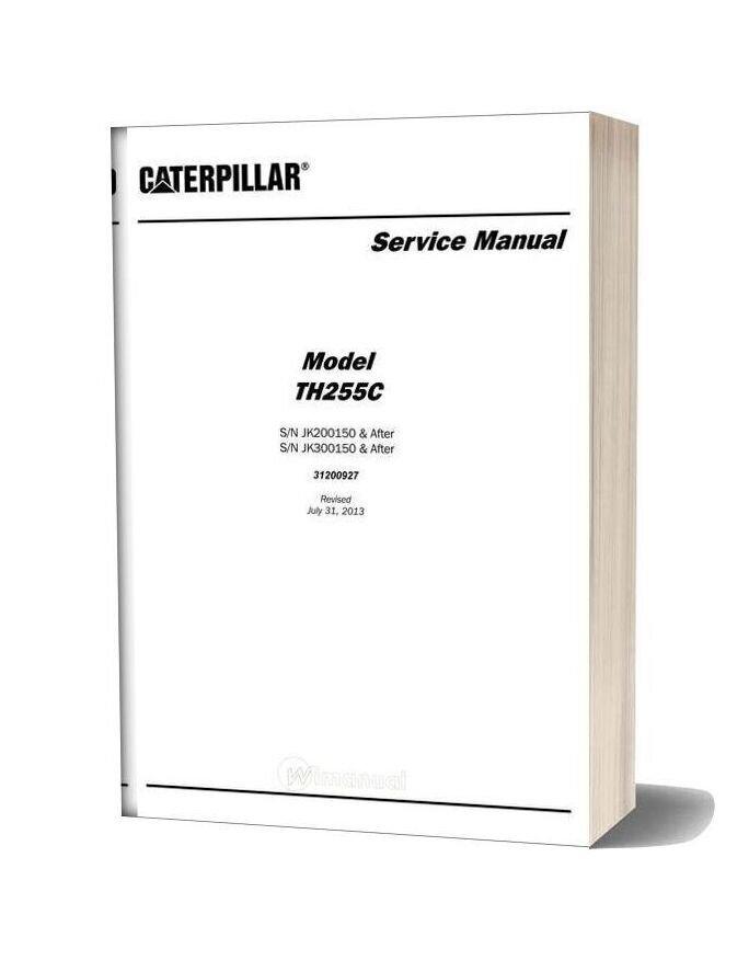 Caterpillar Th255c Telescpic Forklift Service Manual