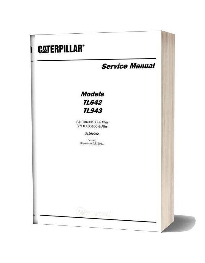 Caterpillar Tl642 Tl943 Telehandler Service Manual