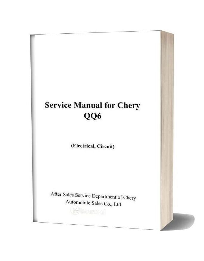 Chery Qq6 Electrical Circuit Service Manual