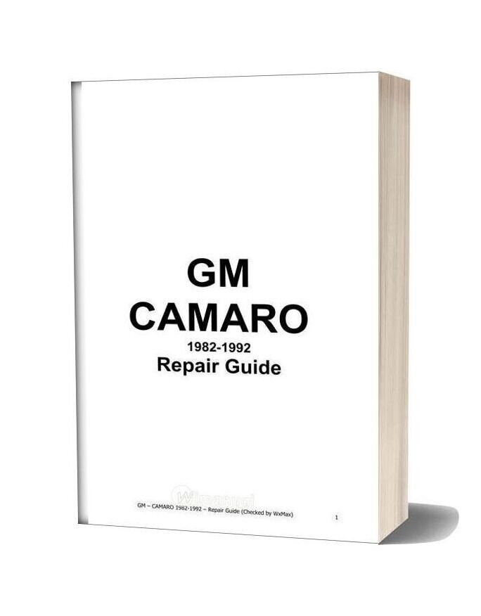 Chevrolet Camaro Repair Guide 1982 1992