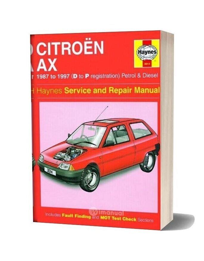 Citroen Ax 1987 1997 Manual Repair Haynes