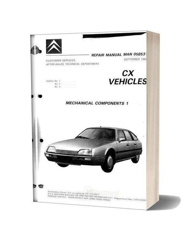 Citroen Cx Repair Manual 1988