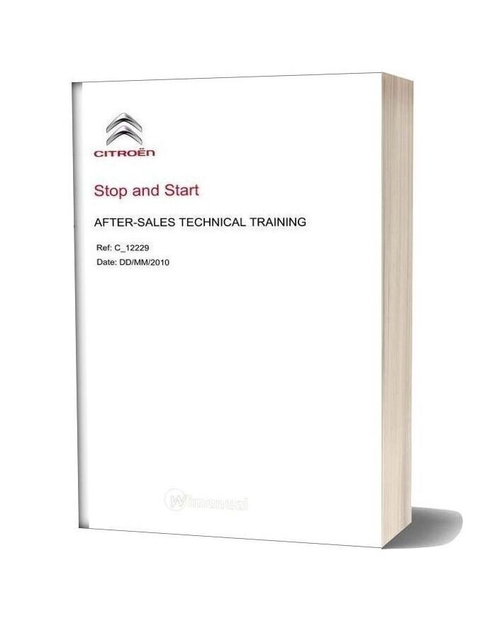 Citroen Stop And Start After Sales Technical Training