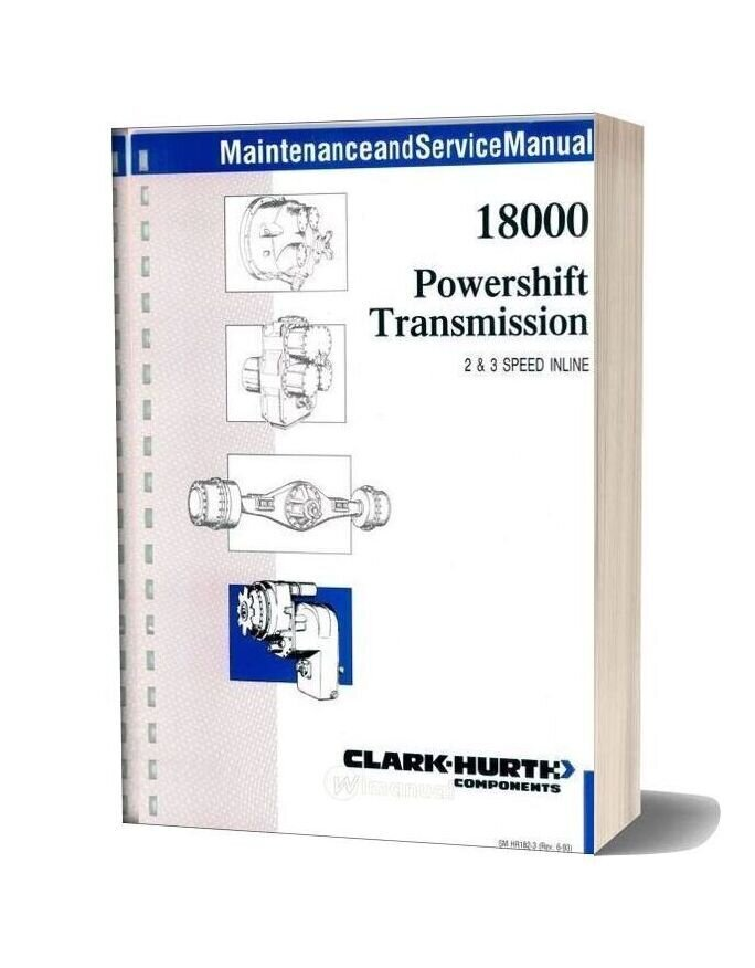 Clark 18000 Powershift Service Manual