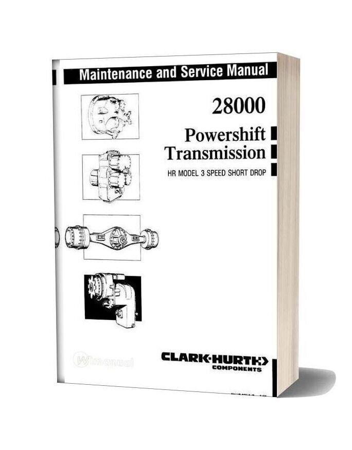 Clark 28000 Powershift Service Manual