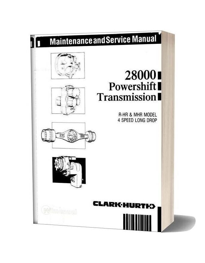 Clark 28000 Powershift Transmission 4 Speed Maintenance And Service Manual