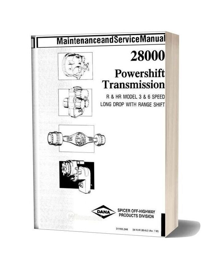 Clark 28000 Powershift Transmission Maintenance And Service Manual