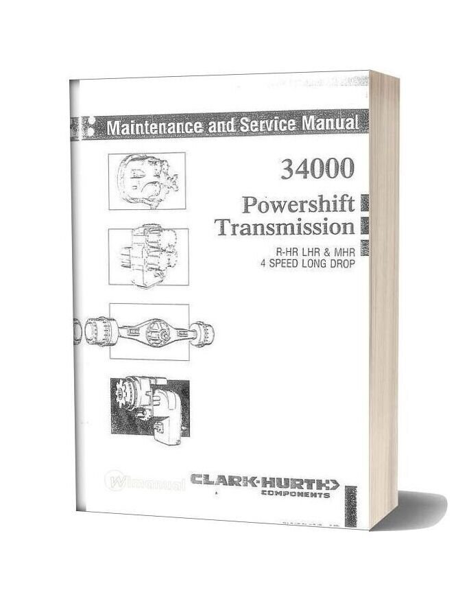 Clark 34000 Powershift Service Manual