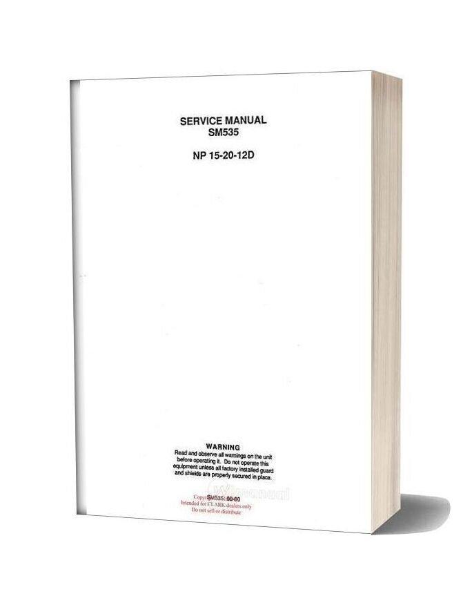 Clark Sm 535 Service Manual