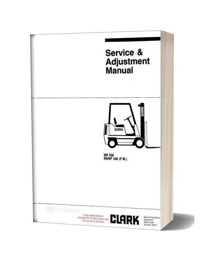 Clark Sm 538 Service Manual