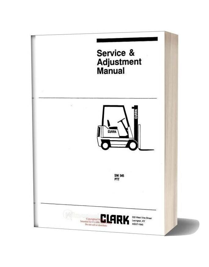 Clark Sm 545 Service Manual