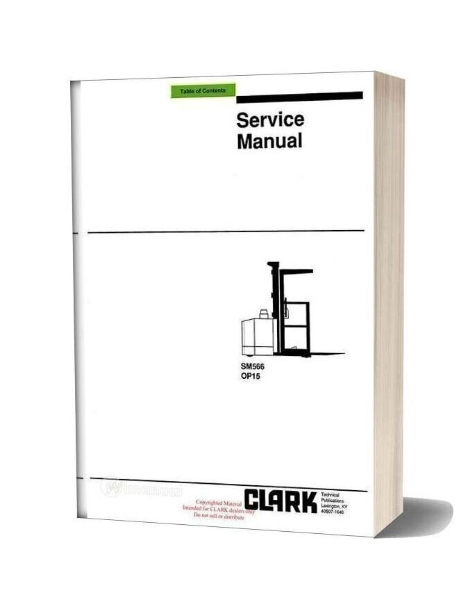 Clark Sm 566 Service Manual