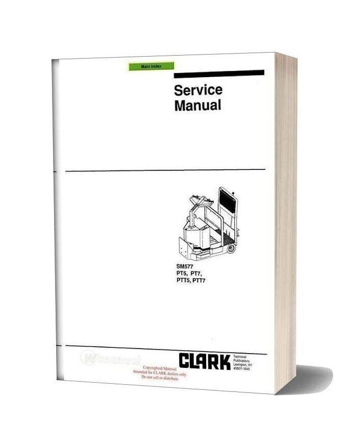 Clark Sm 577 Service Manual