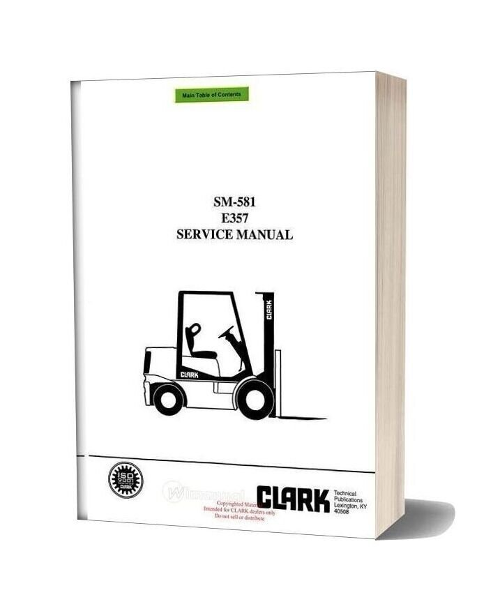 Clark Sm 581 Service Manual