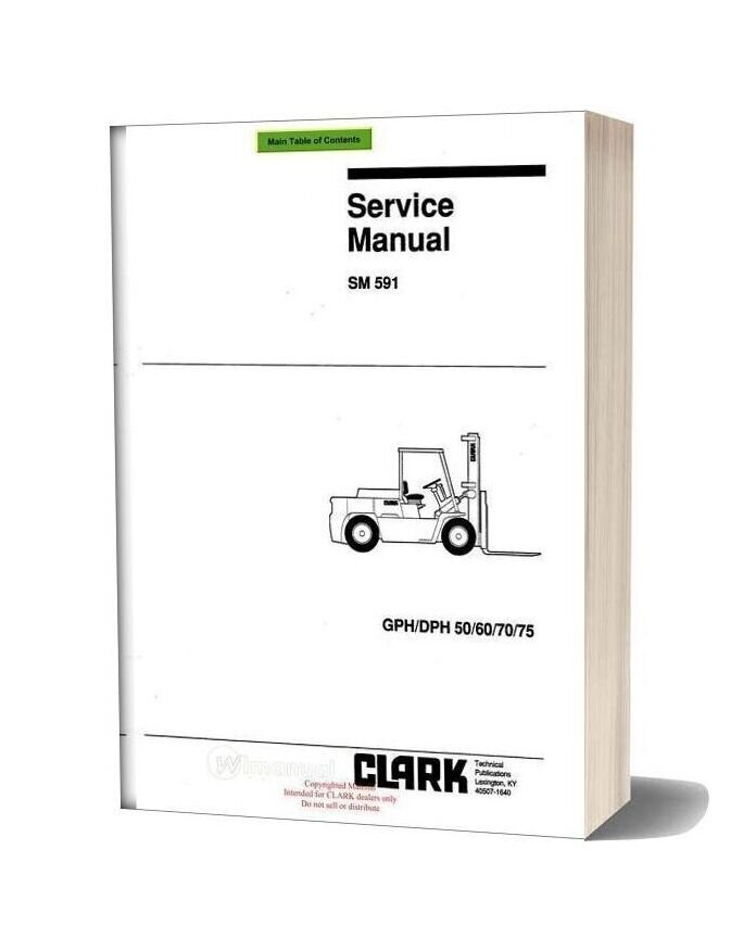 Clark Sm 591 Service Manual