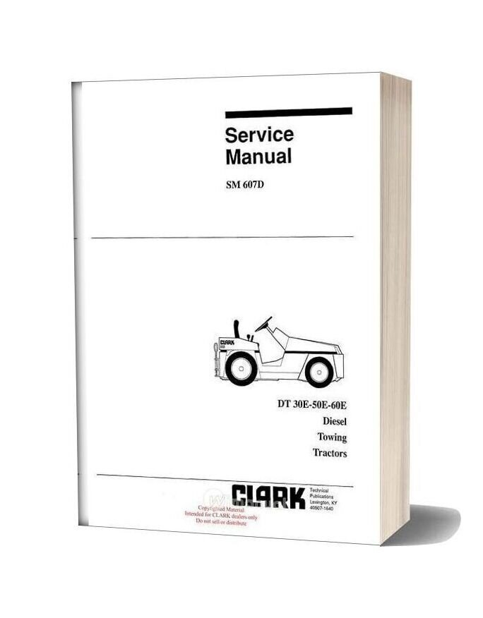 Clark Sm 607d Service Manual