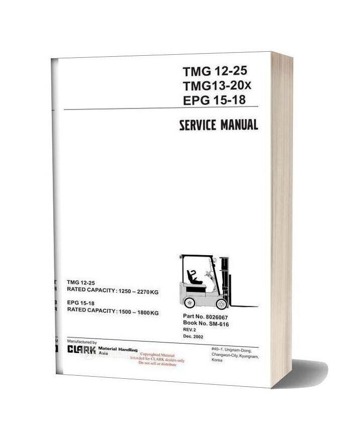 Clark Sm 616 Service Manual