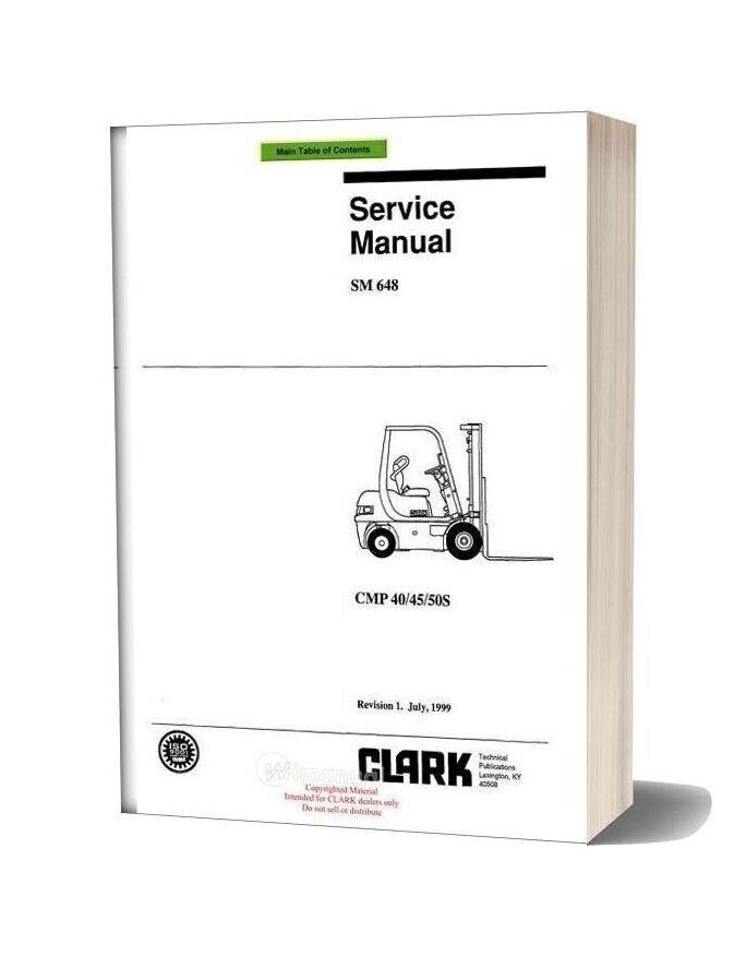 Clark Sm 648 Service Manual