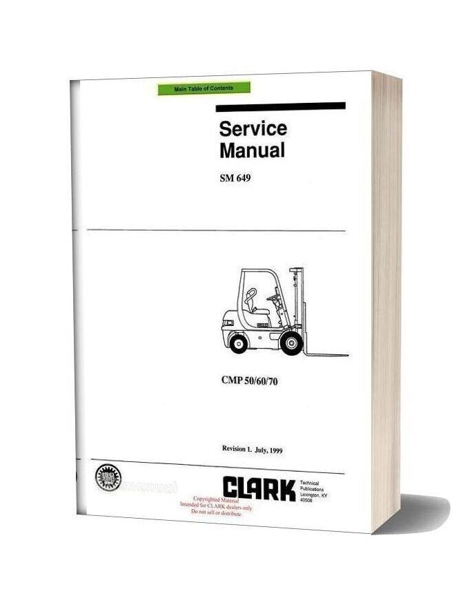 Clark Sm 649 Service Manual