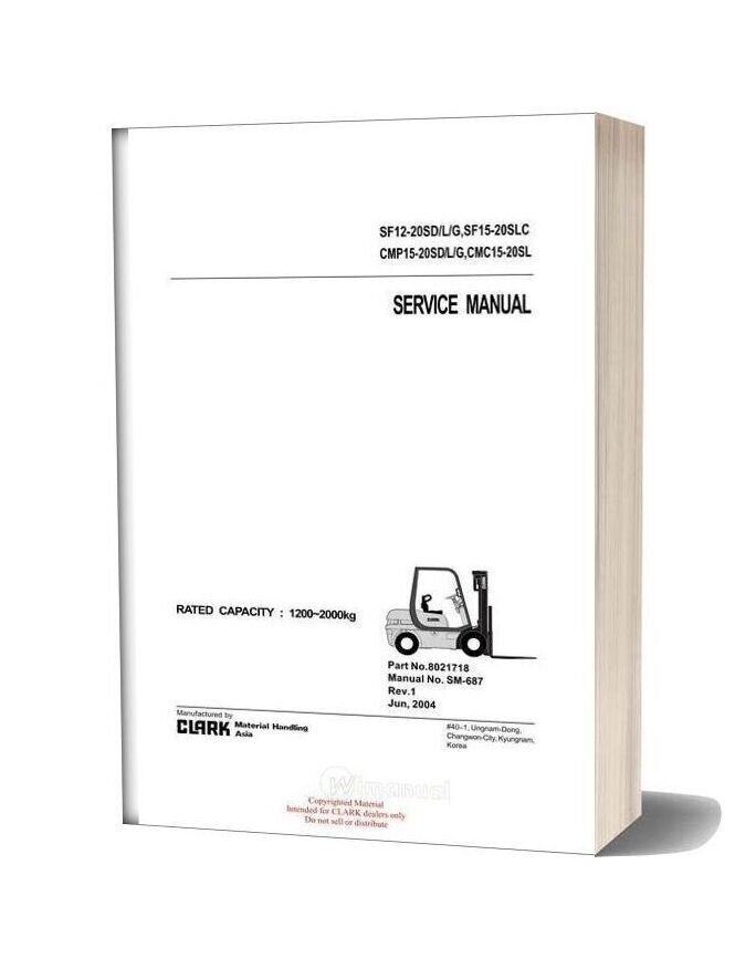 Clark Sm 687 Service Manual