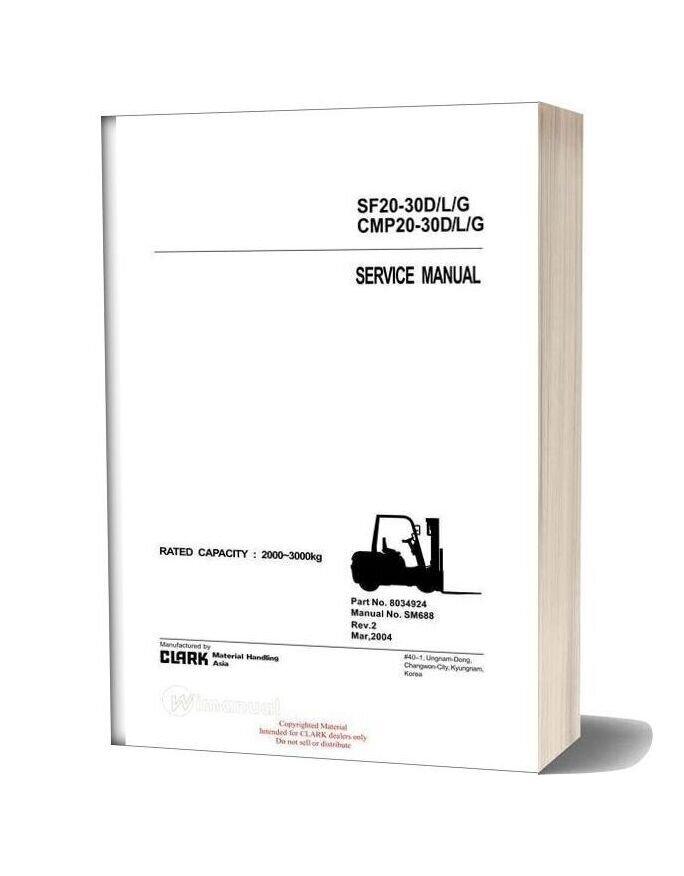 Clark Sm 688 Service Manual