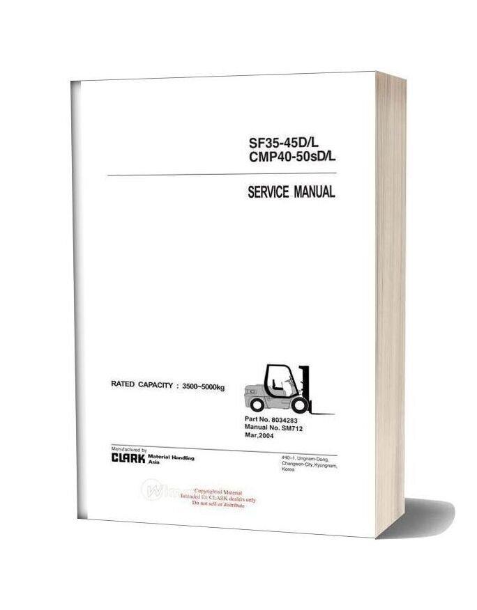 Clark Sm 712 Service Manual